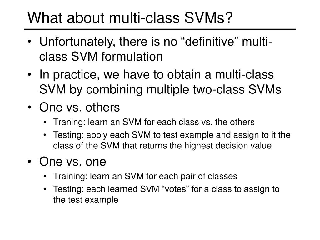What about multi-class SVMs?