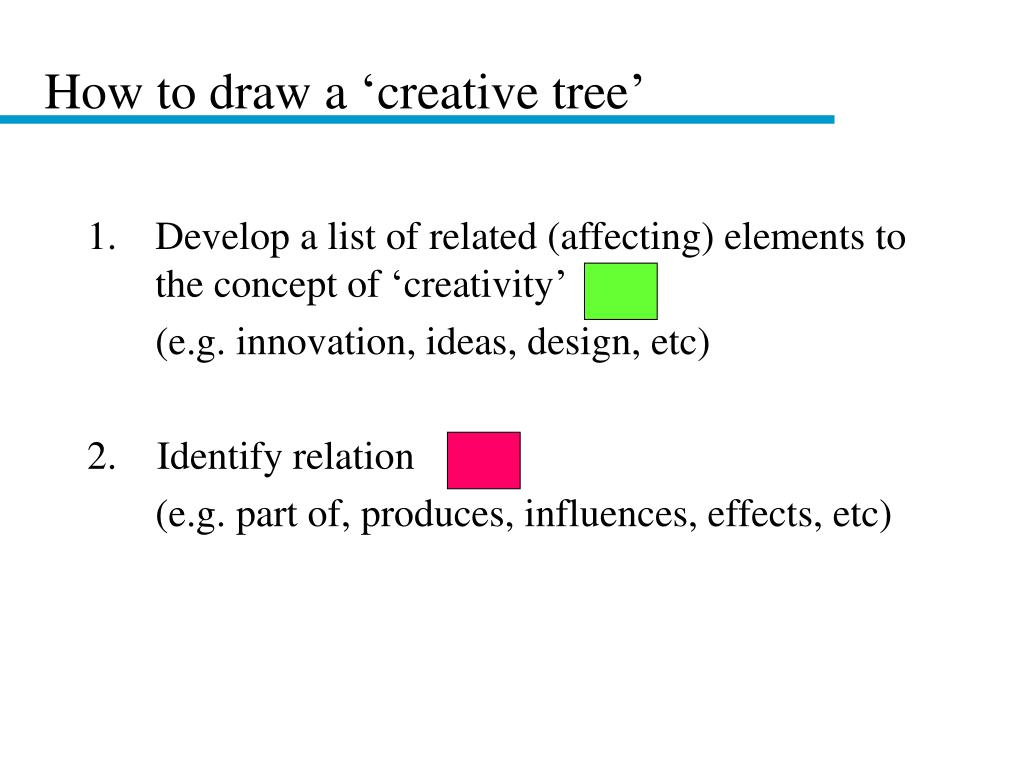 How to draw a 'creative tree'