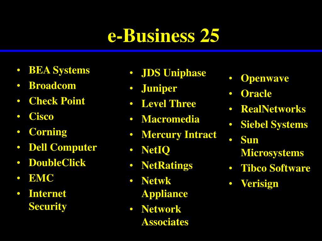 e-Business 25