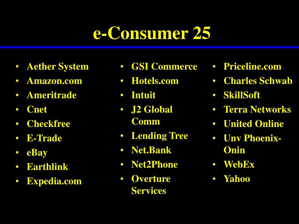 e-Consumer 25