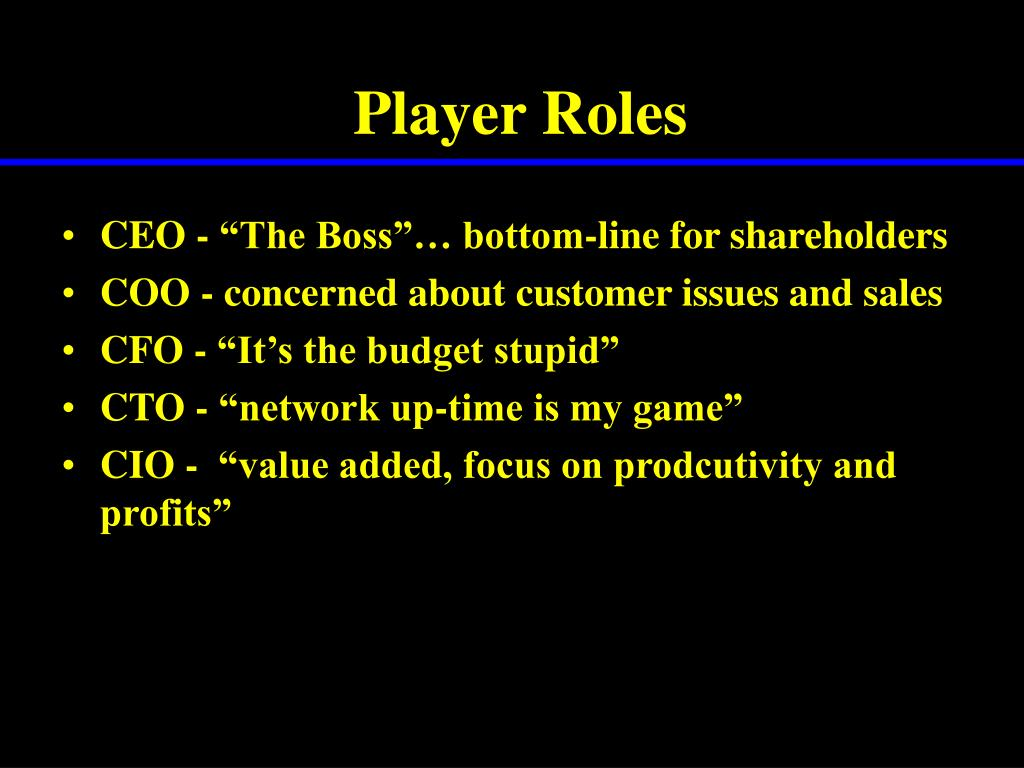 Player Roles