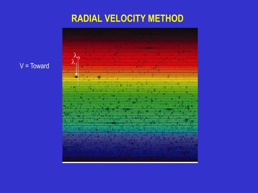 RADIAL VELOCITY METHOD