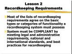 lesson 2 recordkeeping requirements
