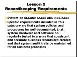 lesson 2 recordkeeping requirements7