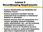lesson 2 recordkeeping requirements9