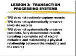 lesson 3 transaction processing systems