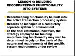 lesson 4 building recordkeeping functionality into systems