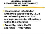 lesson 4 building recordkeeping functionality into systems21