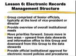 lesson 6 electronic records management structure35