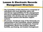 lesson 6 electronic records management structure36