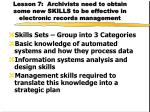 lesson 7 archivists need to obtain some new skills to be effective in electronic records management