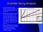 chamber sizing analysis
