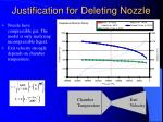 justification for deleting nozzle