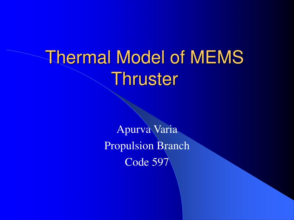 thermal model of mems thruster
