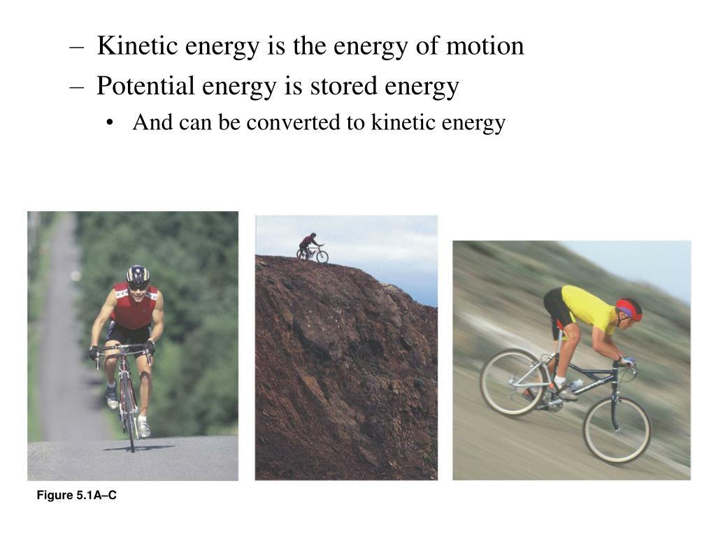 Kinetic energy is the energy of motion