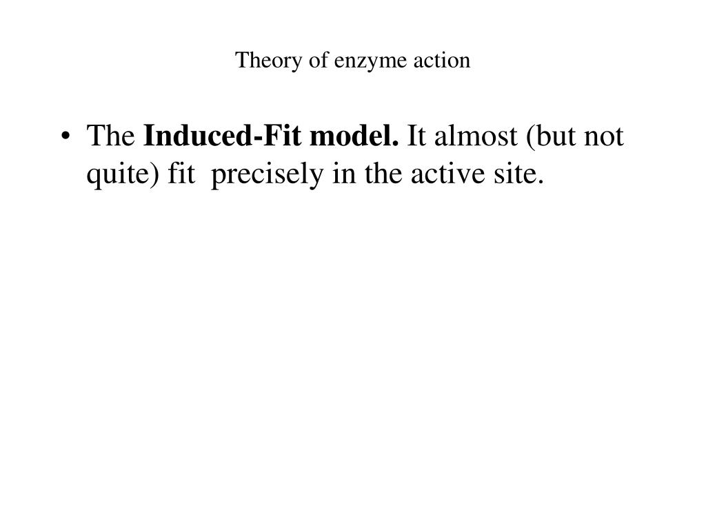 Theory of enzyme action
