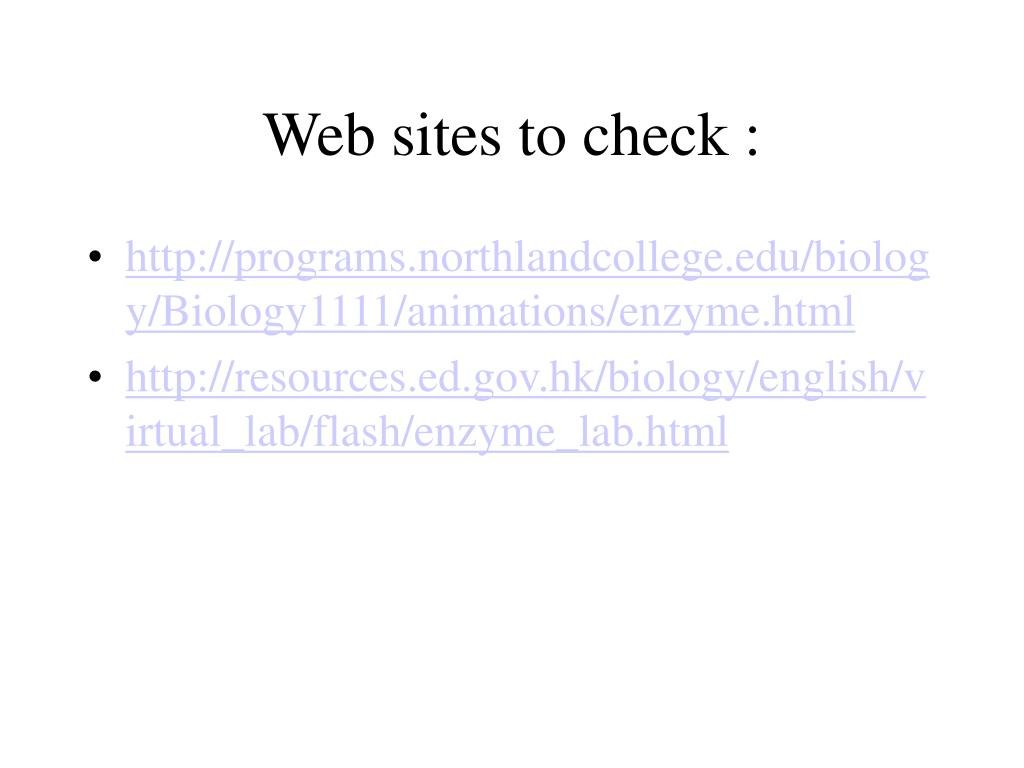 Web sites to check :