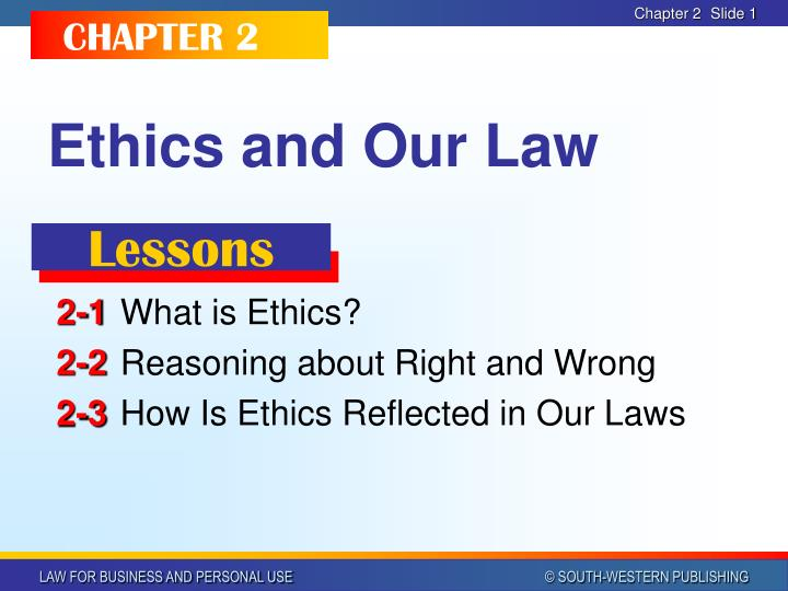 ethics and our law n.