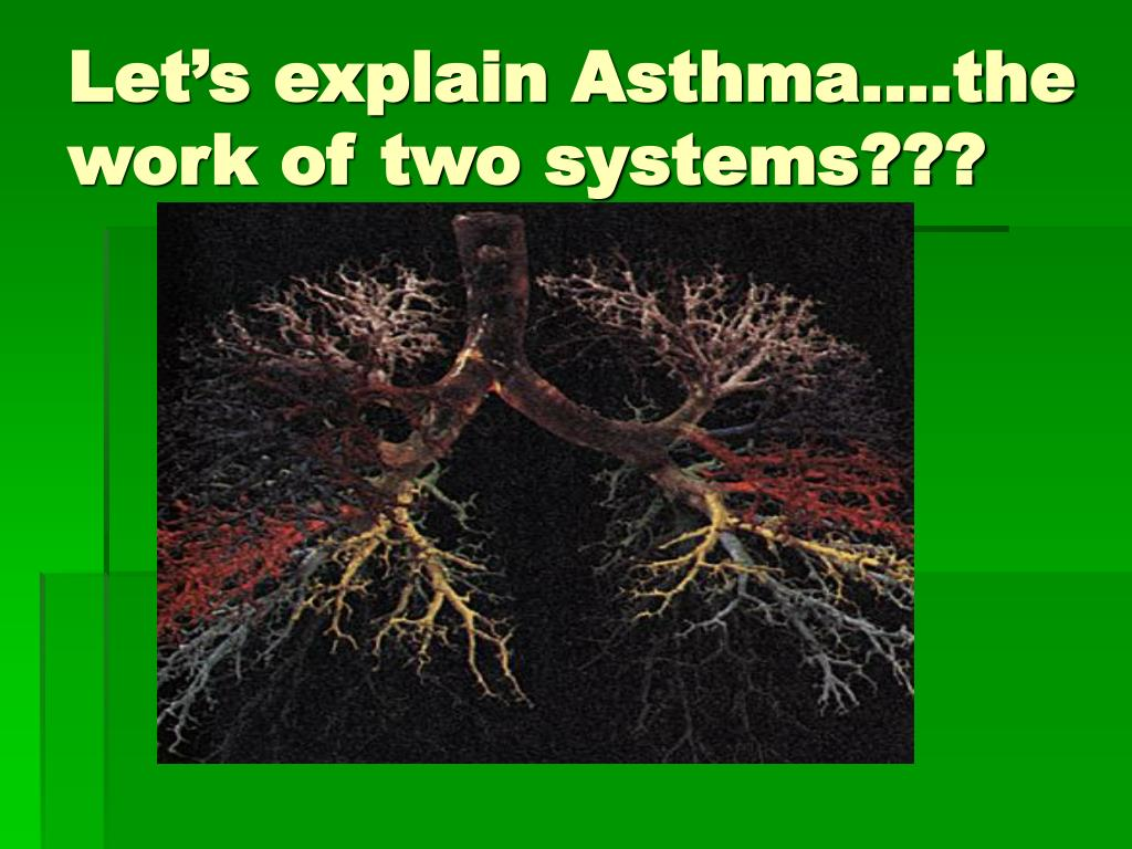 Let's explain Asthma….the work of two systems???