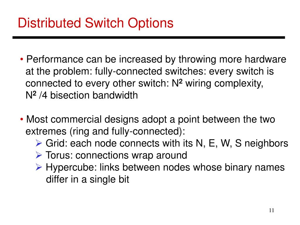 Distributed Switch Options