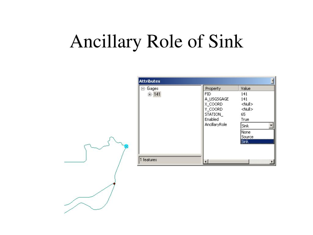 Ancillary Role of Sink