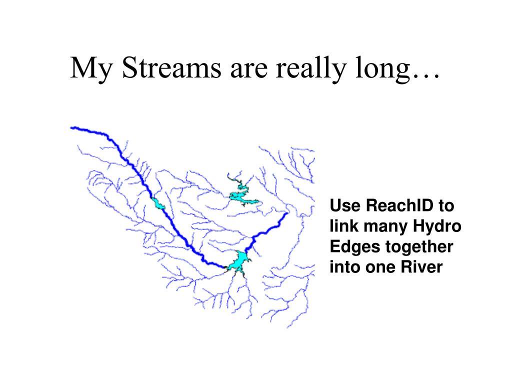 My Streams are really long…