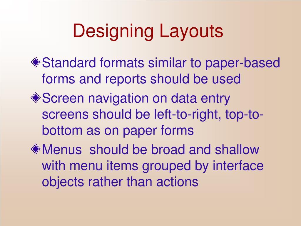Designing Layouts