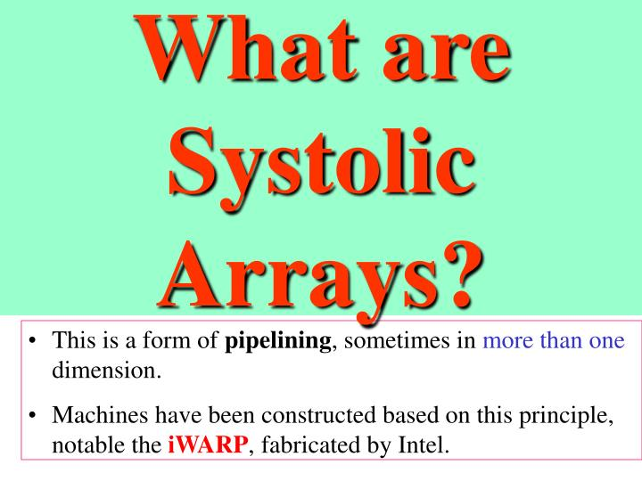 What are Systolic Arrays?