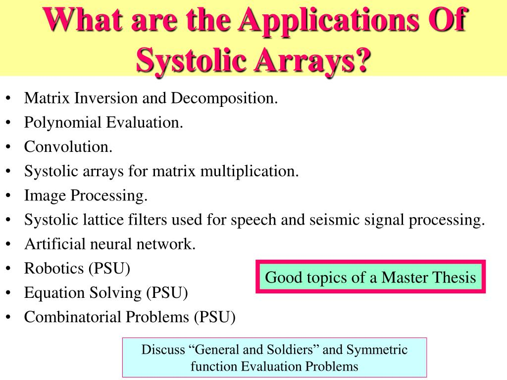 What are the Applications Of Systolic Arrays?