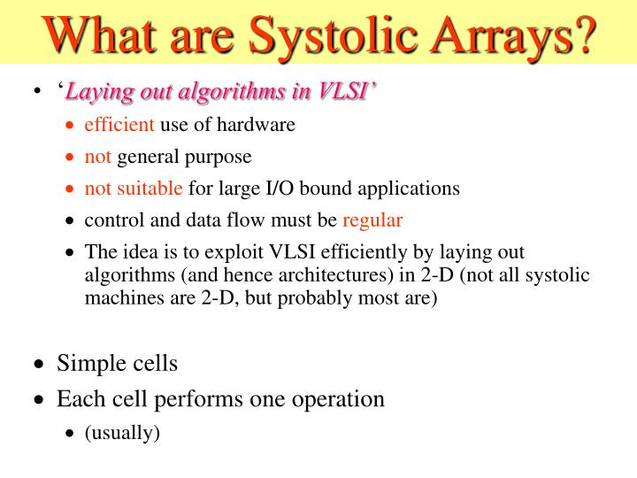 What are systolic arrays