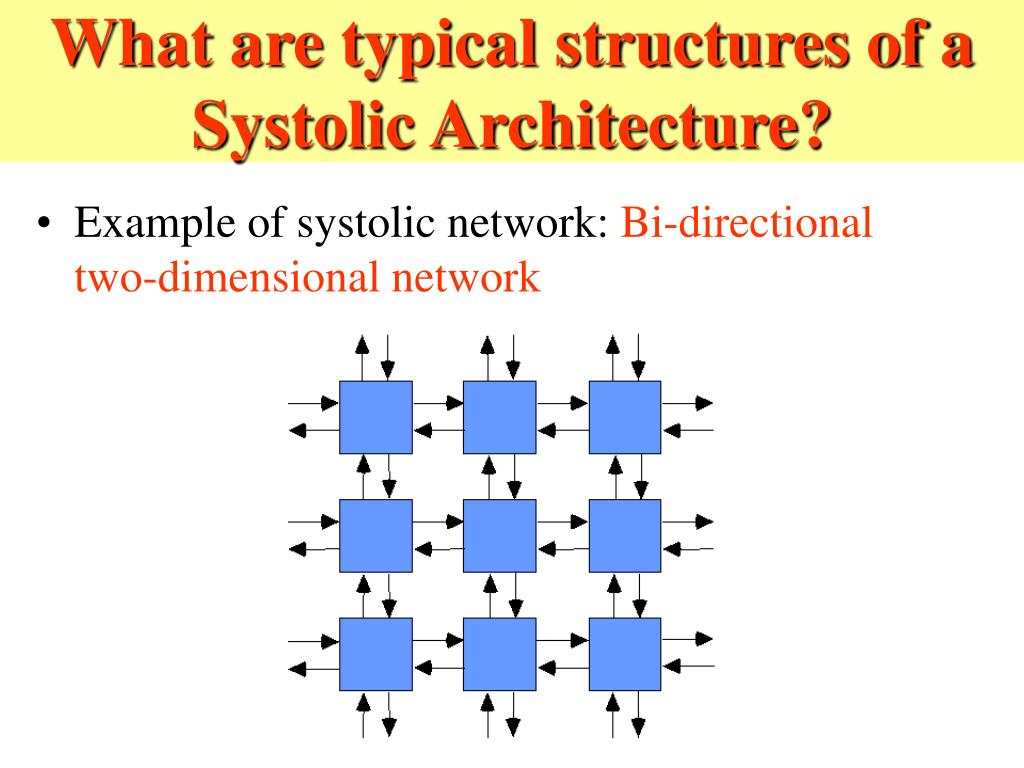 What are typical structures of a Systolic Architecture?