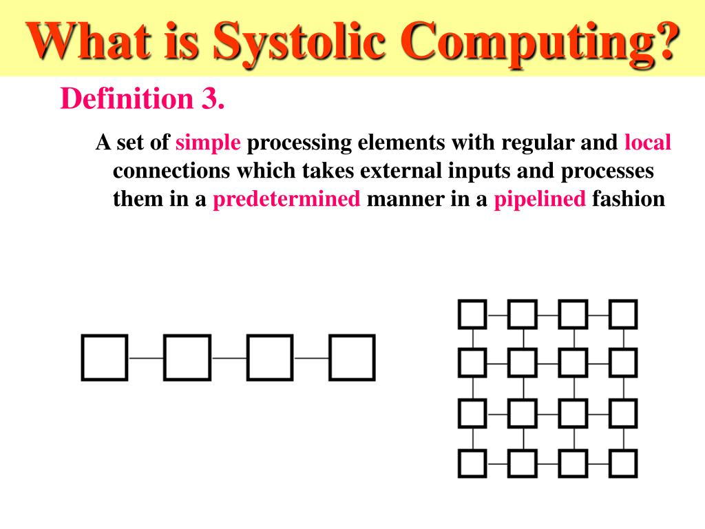What is Systolic Computing?