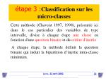 tape 3 classification sur les micro classes