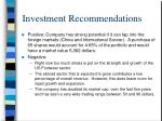 investment recommendations