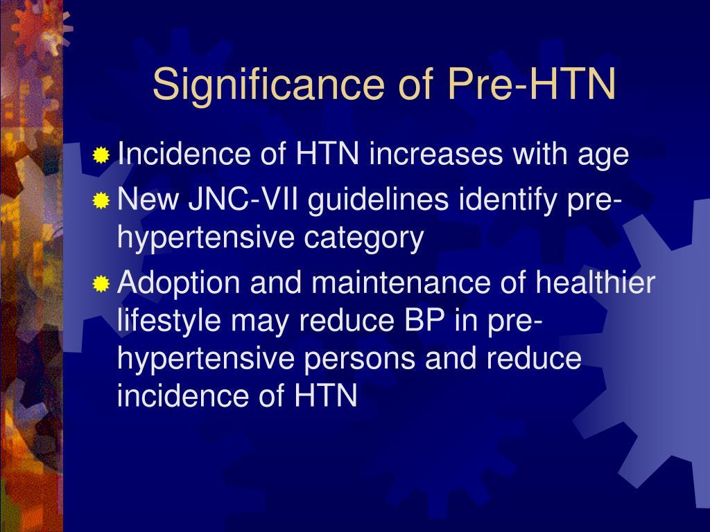 Significance of Pre-HTN