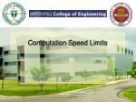 computation speed limits