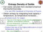entropy density of solids