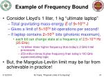 example of frequency bound