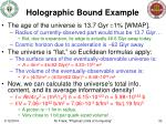 holographic bound example