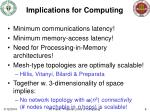 implications for computing