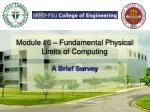 module 6 fundamental physical limits of computing