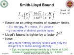 smith lloyd bound