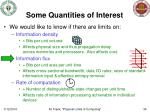 some quantities of interest36