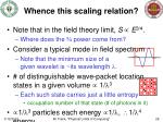 whence this scaling relation