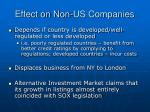 effect on non us companies