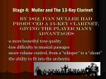 stage 4 muller and the 13 key clarinet