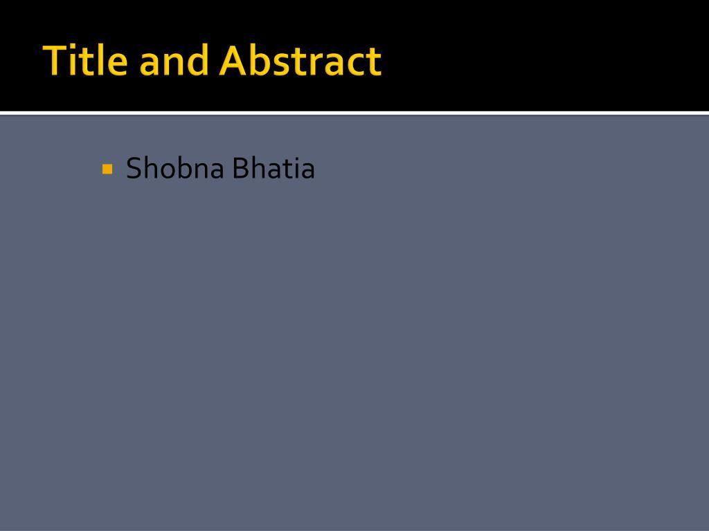 Shobna Bhatia