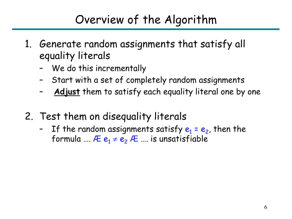 Overview of the Algorithm