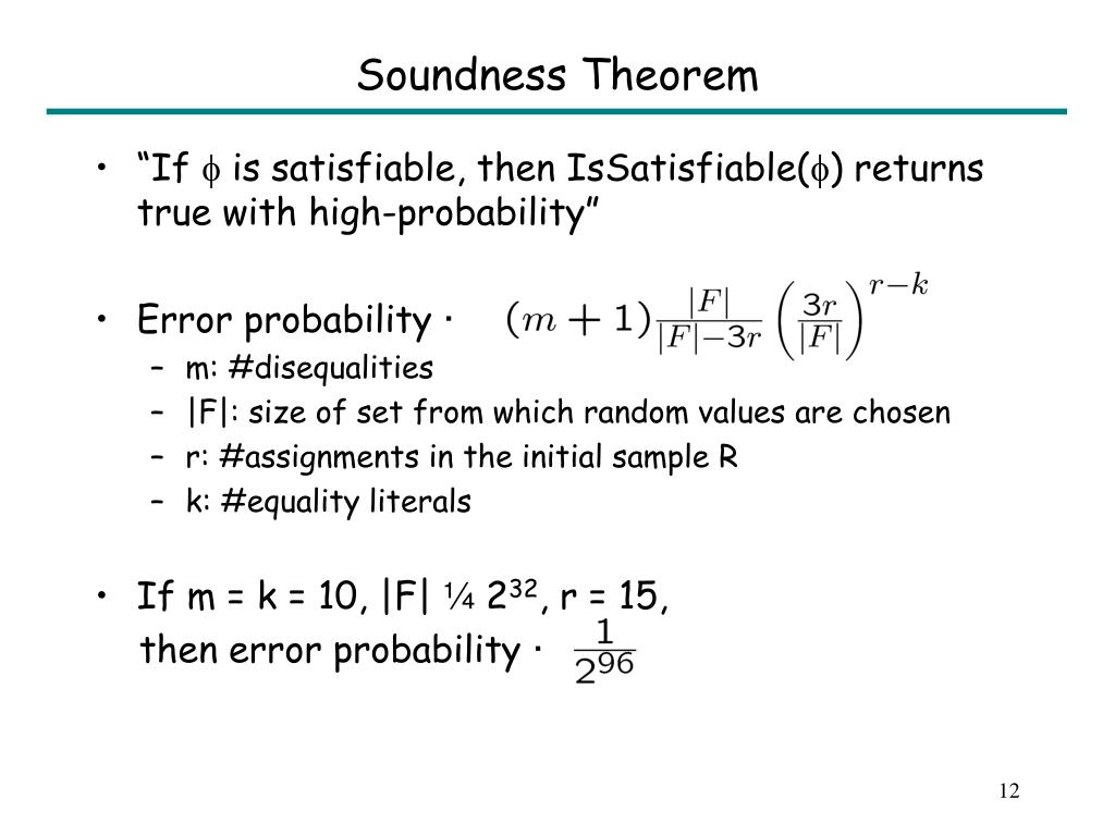 Soundness Theorem