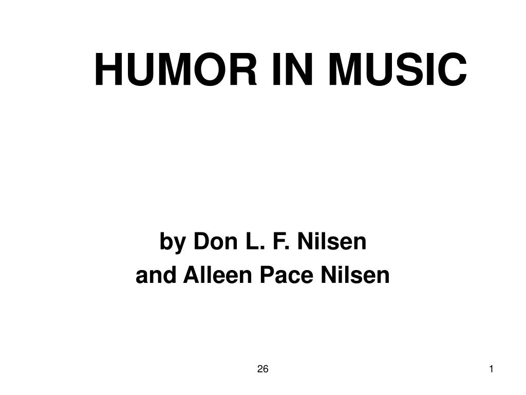 humor in music l.